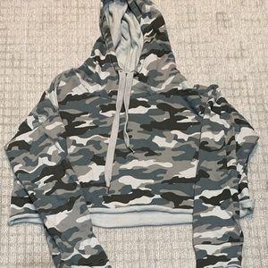 Aqua army matching set sweatshirt and sweatpants